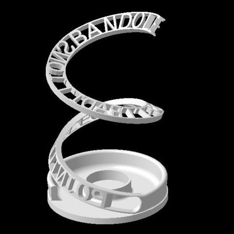 Download STL file PERSONALIZABLE DECO OBJECT-Y • 3D printer template, Ibarakel