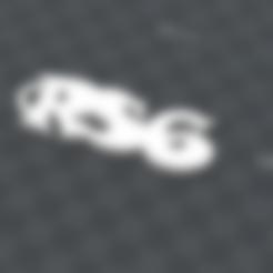 Download free 3D printer files customizable keyring RS6, Ibarakel