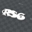 Télécharger fichier imprimante 3D gratuit porte clef personnalisable  RS6, Ibarakel