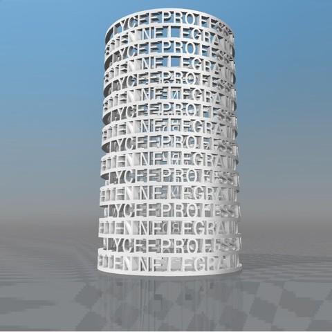 Download STL file PORTE PENCIL LYCEE PROFESSIONNEL ETIENNE LEGRAND • 3D print object, Ibarakel