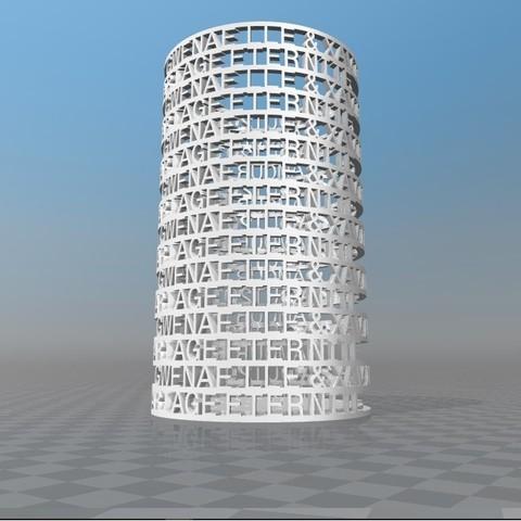 Download STL file JULIEN PERSONALIZED PENCIL HOLDER • 3D printing template, Ibarakel