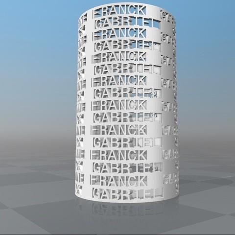 Download STL file PERSONALIZABLE PENCIL HOLDER ANNE FRANCK GABRIEL STELLA • Template to 3D print, Ibarakel
