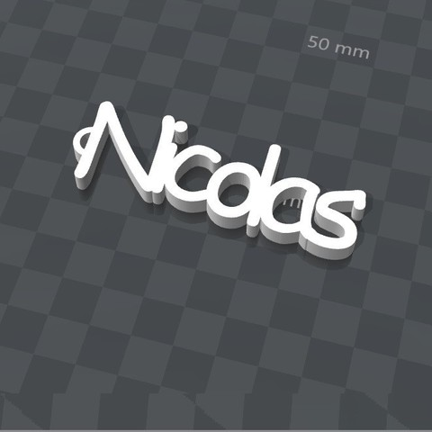 Download free 3D printer designs NICOLAS PERSONALIZABLE KEY RING, Ibarakel