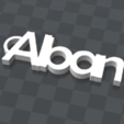 3d.png Download free STL file customizable key holder Alban • Object to 3D print, Ibarakel
