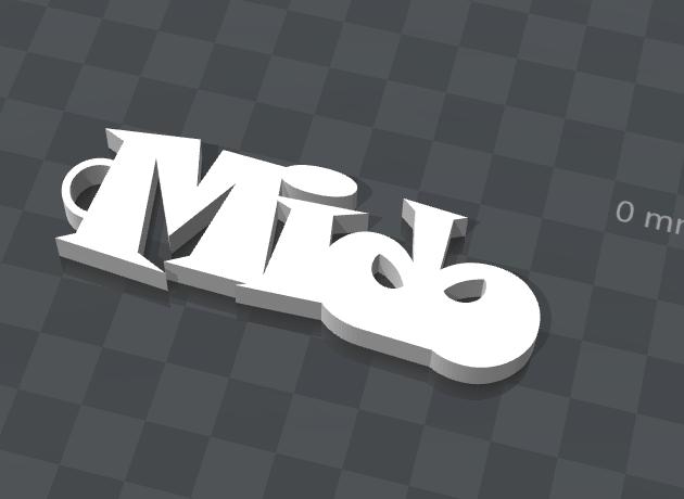 mido.png Télécharger fichier STL gratuit PORTE-CLEF PERSONNALISABLE Mido • Objet pour impression 3D, Ibarakel