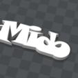 Télécharger plan imprimante 3D gatuit PORTE-CLEF PERSONNALISABLE Mido, Ibarakel