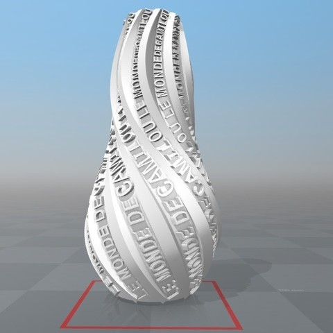 Download STL file Vase customizable world of camilou • 3D printer object, Ibarakel