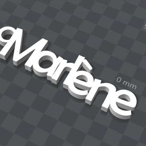 Télécharger objet 3D gratuit PORTE-CLEF PERSONNALISABLE Marlène, Ibarakel