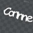 3d.png Télécharger fichier STL gratuit porte clef personnalisable  CORINNE • Design pour impression 3D, Ibarakel