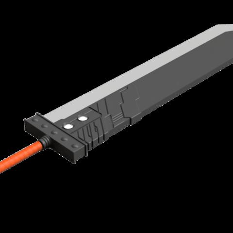 Buster_Sword_2018-Jun-20_11-02-19AM-000_CustomizedView15663406745_png_alpha.png Download STL file Final Fantasy VII - Buster Sword - Bracelet - Shoulder pad  • 3D print model, 3Dutchie