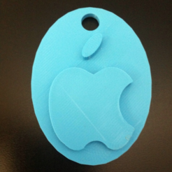 Free STL file Apple logo & keychian, Mathi_