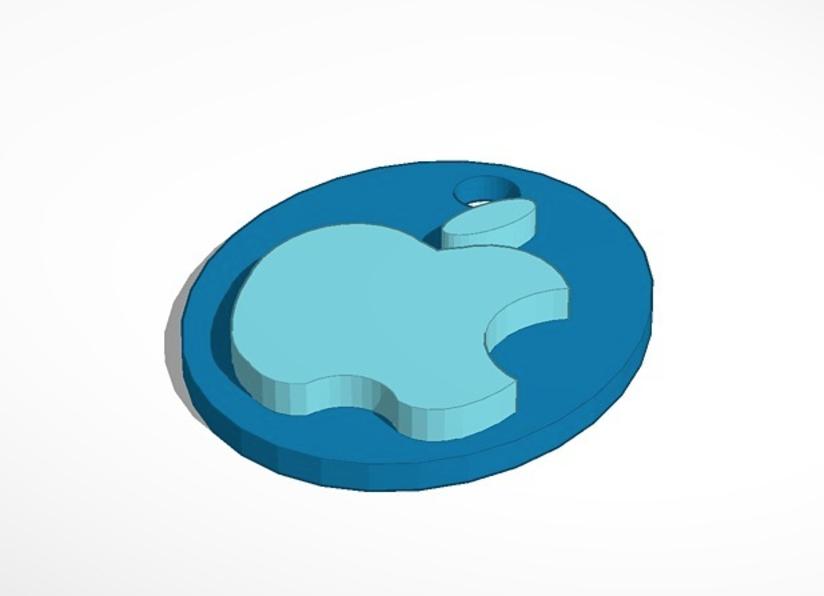 Capture d'écran 2016-12-08 à 11.49.34.png Download free STL file Apple logo & keychian • Design to 3D print, Mathi_