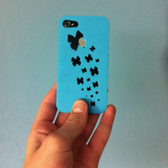 Imprimir en 3D gratis Kallima inachus butterfly iPhone 4/4s case (butterfly's flying away iPhone case), Mathi_