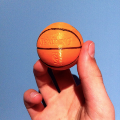 Free 3D printer designs Spalding Basketball, Mathi_