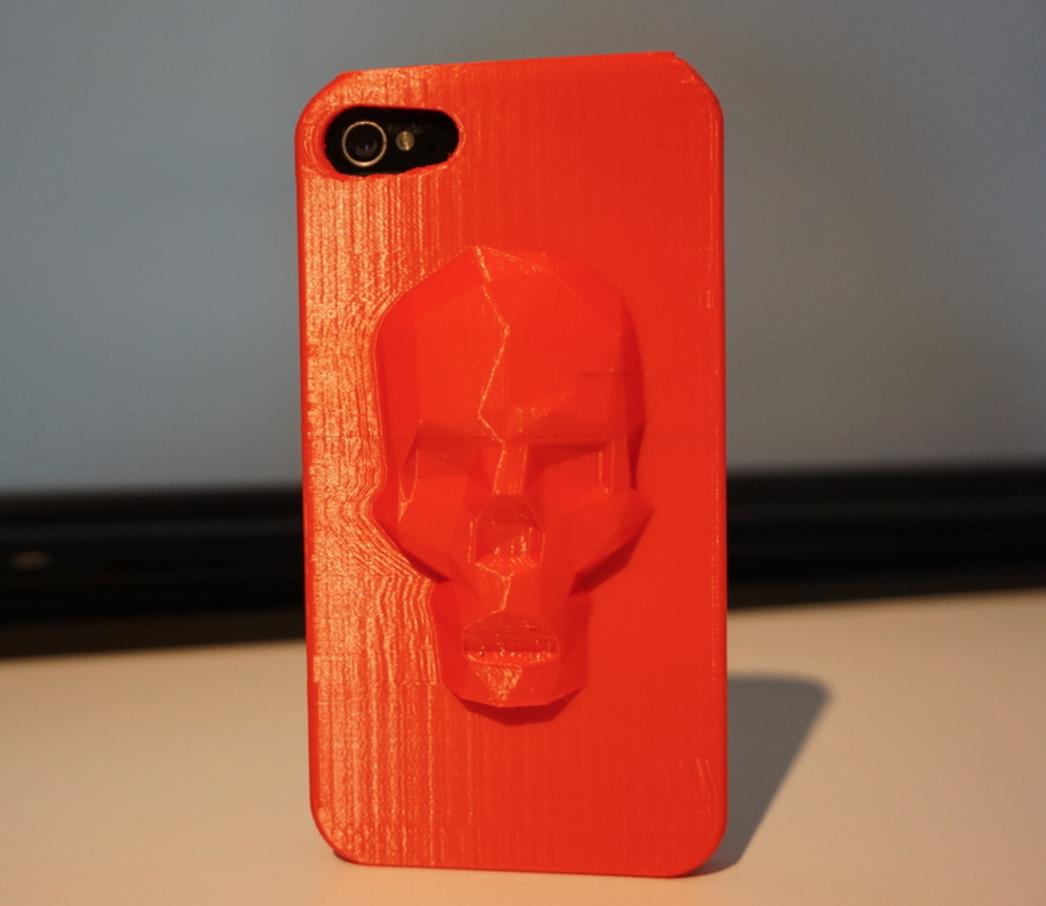 Capture d'écran 2016-12-08 à 12.31.04.png Télécharger fichier STL gratuit Étui Low Poly Skull iPhone (4, 4s, 5s, 6 et 6 plus) • Modèle à imprimer en 3D, Mathi_