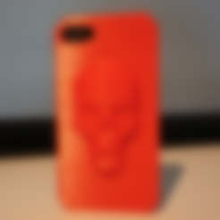 Free STL files Low Poly Skull iPhone case (4, 4s, 5s, 6 and 6 plus), Mathi_