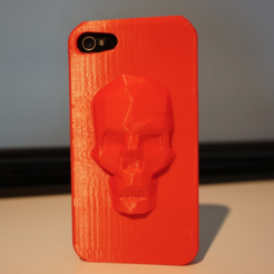 Free Low Poly Skull iPhone case (4, 4s, 5s, 6 and 6 plus) STL file, Mathi_