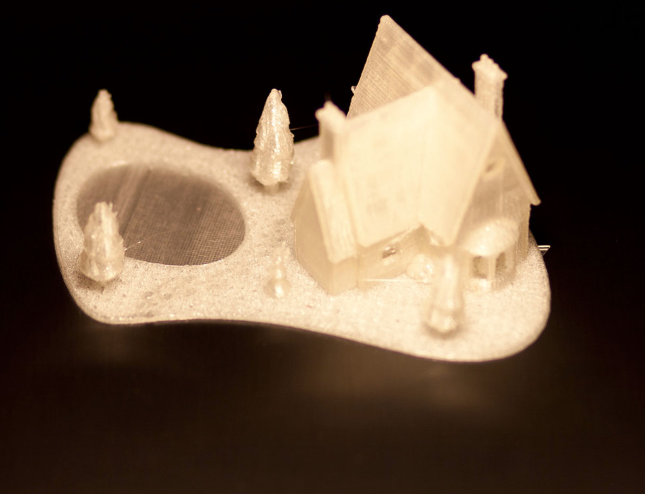 Capture d'écran 2016-12-08 à 12.44.32.png Download STL file Christmas House With frozen pond • 3D printer template, Mathi_