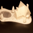 Download 3D printer templates Christmas House With frozen pond, Mathi_