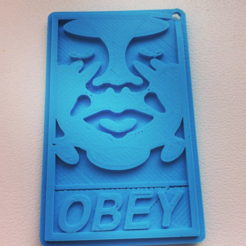 Diseños 3D gratis Obey Andre the giant keychain, Mathi_