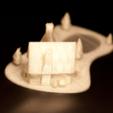 Télécharger fichier STL Maison de Noël avec étang gelé, Mathi_