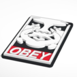 Download free 3D printer templates Obey Andre the giant keychain, Mathi_