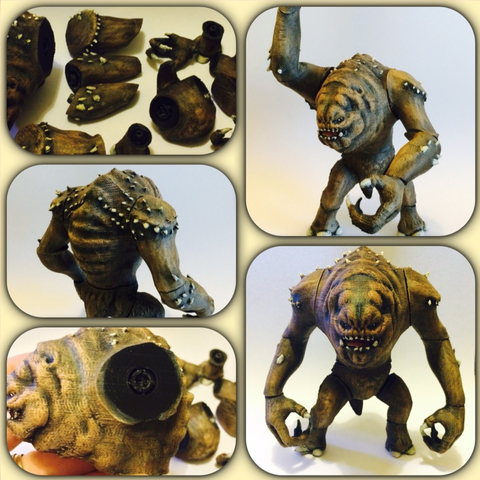 Download free STL file Jabba's Rancor. (posable figure) • 3D printable object, Geoffro