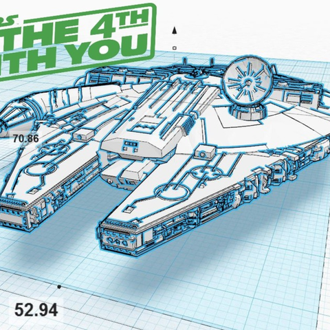 Descargar archivo 3D gratis Millennium Falcon Hi-Res, Geoffro