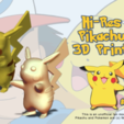 Download free 3D printing templates A Better Pikachu, Geoffro