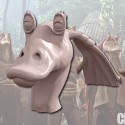 Descargar Modelos 3D para imprimir gratis JarJar Esculptado (22mb), Geoffro