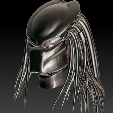 Capture d'écran 2016-12-12 à 14.08.37.png Download free STL file Predator Bust With Hair (35mb) • 3D printing design, Geoffro