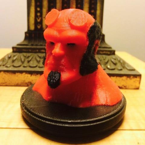 Capture d'écran 2016-12-12 à 12.19.50.png Download free STL file Hellboy Dual Extrusion Bust • 3D printer object, Geoffro
