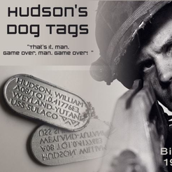 Download free STL Hudsons Dog Tags, Geoffro