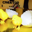 Free Cracked Egg 3D printer file, Geoffro