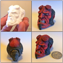 Download free 3D printing templates Hellboy Resculpted, Geoffro