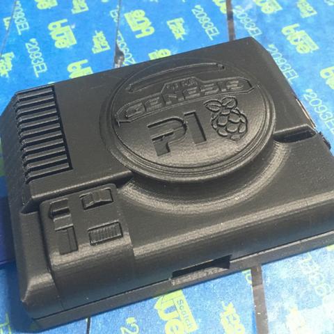 Capture d'écran 2016-12-13 à 16.56.10.png Download free STL file Sega Pi - Genesis Raspberry Pi-2 Case • 3D printable object, Geoffro