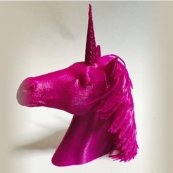 Download free 3D printer templates Hairy Unicorn (plus dual extrusion version), Geoffro