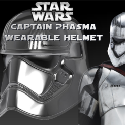 Free 3D printer files Captain Phasma Wearable Helmet, Geoffro