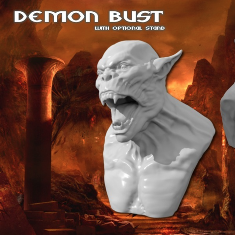 Download free STL file Demon Bust HD • 3D printing object, Geoffro