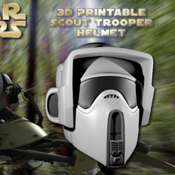 Download free STL file Scout Trooper Helmet (Hi-res), Geoffro