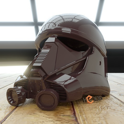 STL Death Trooper (AWT Trooper) Casque en taille humaine (Rogue One) gratis, Geoffro