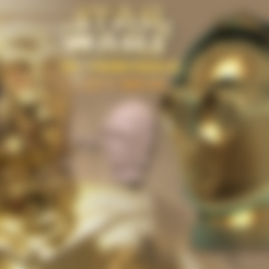 Download STL file C3P0 Wearable Mask (Hi Res) • Design to 3D print, Geoffro
