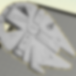 Download free 3D printer templates Millennium Falcon Penny Bottle Opener (5C), Geoffro