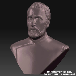 Download free STL file Sir Christoper Lee Memorial Bust (1922 - 2015), Geoffro