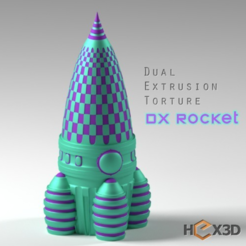 Download free STL files Dual Extrusion Rocket, Geoffro
