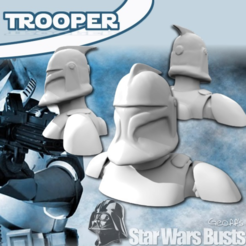 Free 3D printer model Clone Trooper Bust, Geoffro