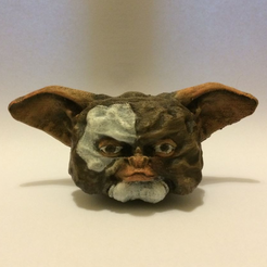 Free 3d printer designs Gizmo Bust (30mb), Geoffro