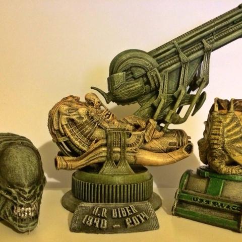 Capture d'écran 2016-12-12 à 19.31.26.png Download free STL file Aliens Face Hugger Bust • 3D printer template, Geoffro