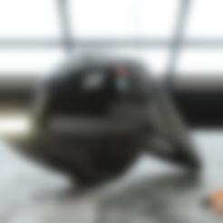 Hex3D_ImpGunner_Jaw_Part6.stl Download STL file Imperial Gunner 3D Printable Helmet • 3D print design, Geoffro