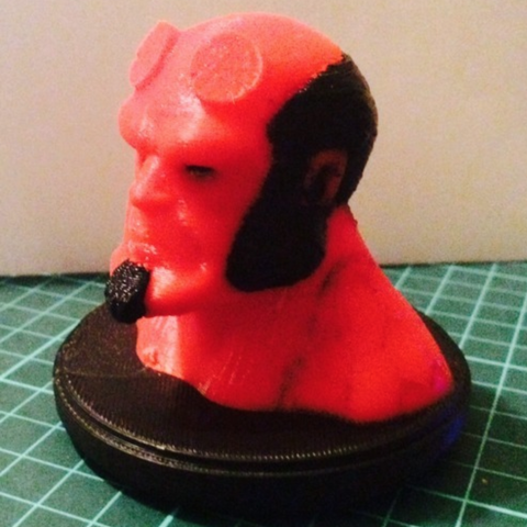 Free 3D printer files Hellboy Dual Extrusion Bust, Geoffro